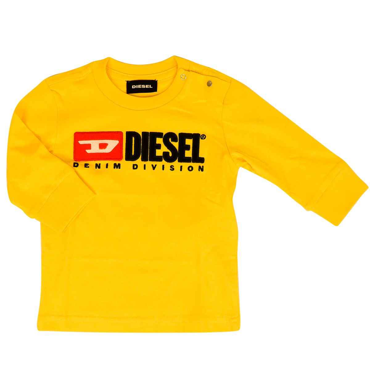 T-shirt with applied logo on the front Yellow Diesel