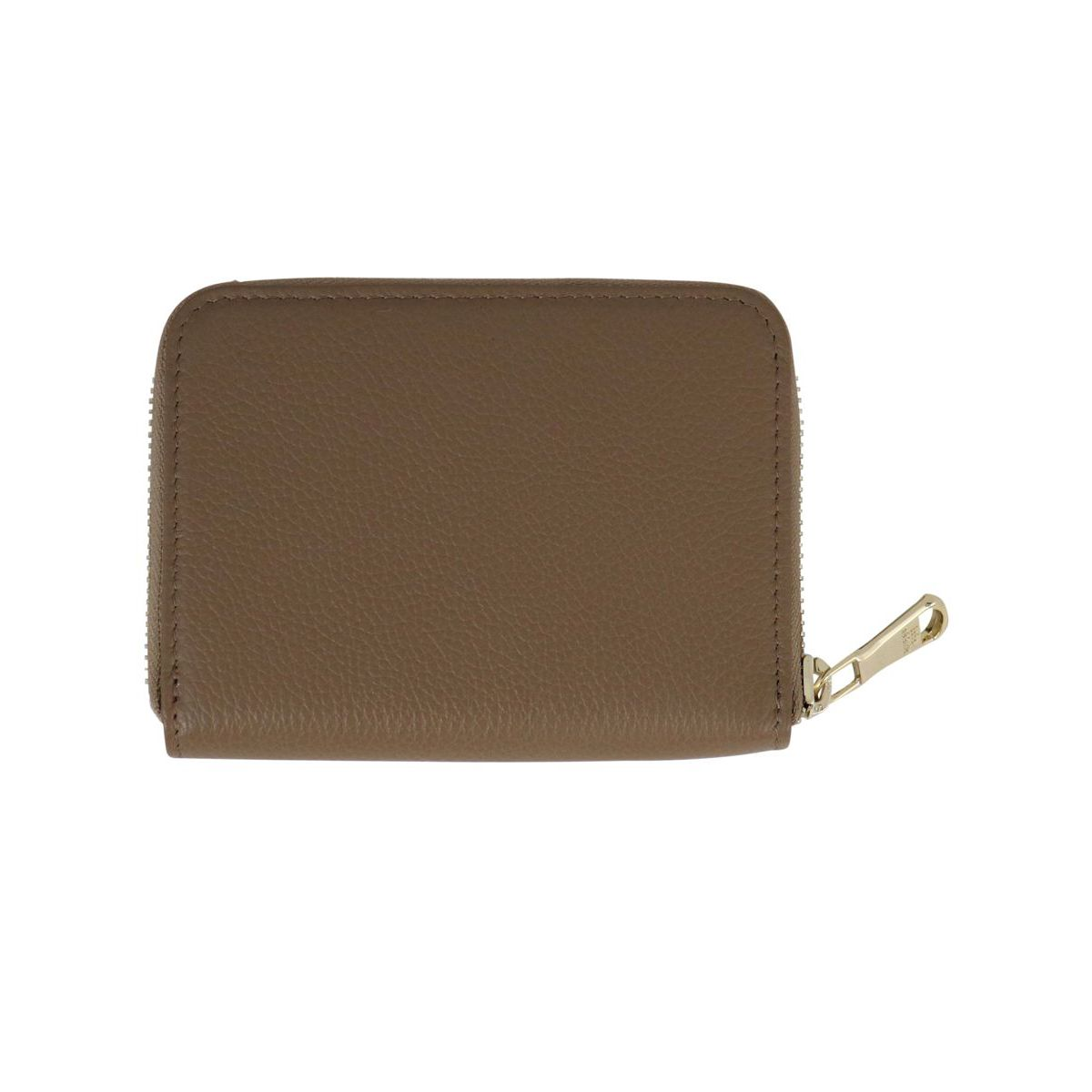 Textured leather wallet with logo Beige Patrizia Pepe