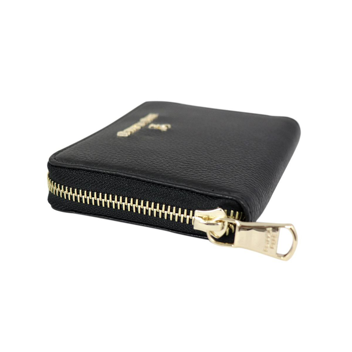 Textured leather wallet with logo Black Patrizia Pepe