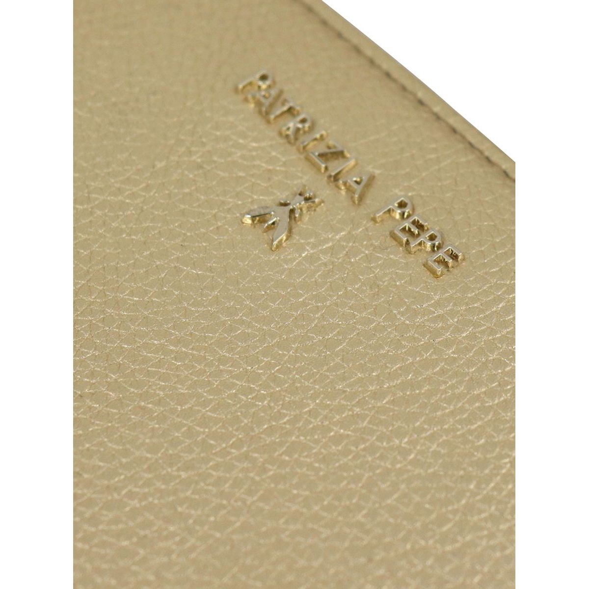 Textured leather wallet with logo Gold Patrizia Pepe