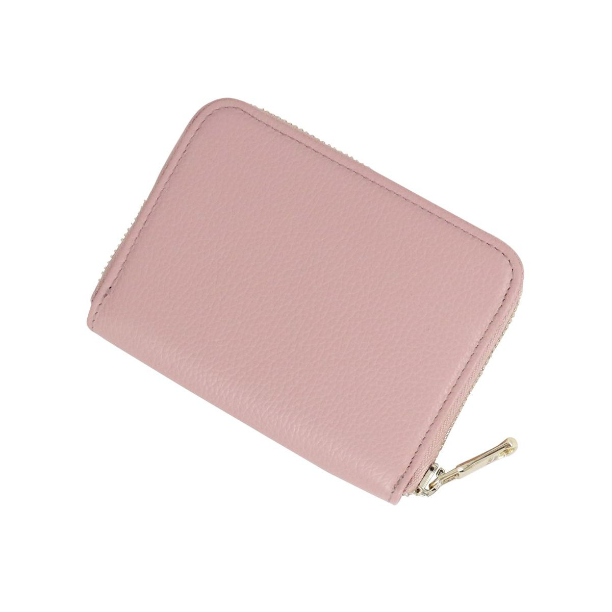 Textured leather wallet with logo Pink Patrizia Pepe