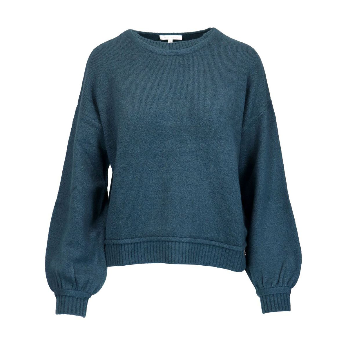 Wool blend sweater with balloon sleeves Teal Patrizia Pepe