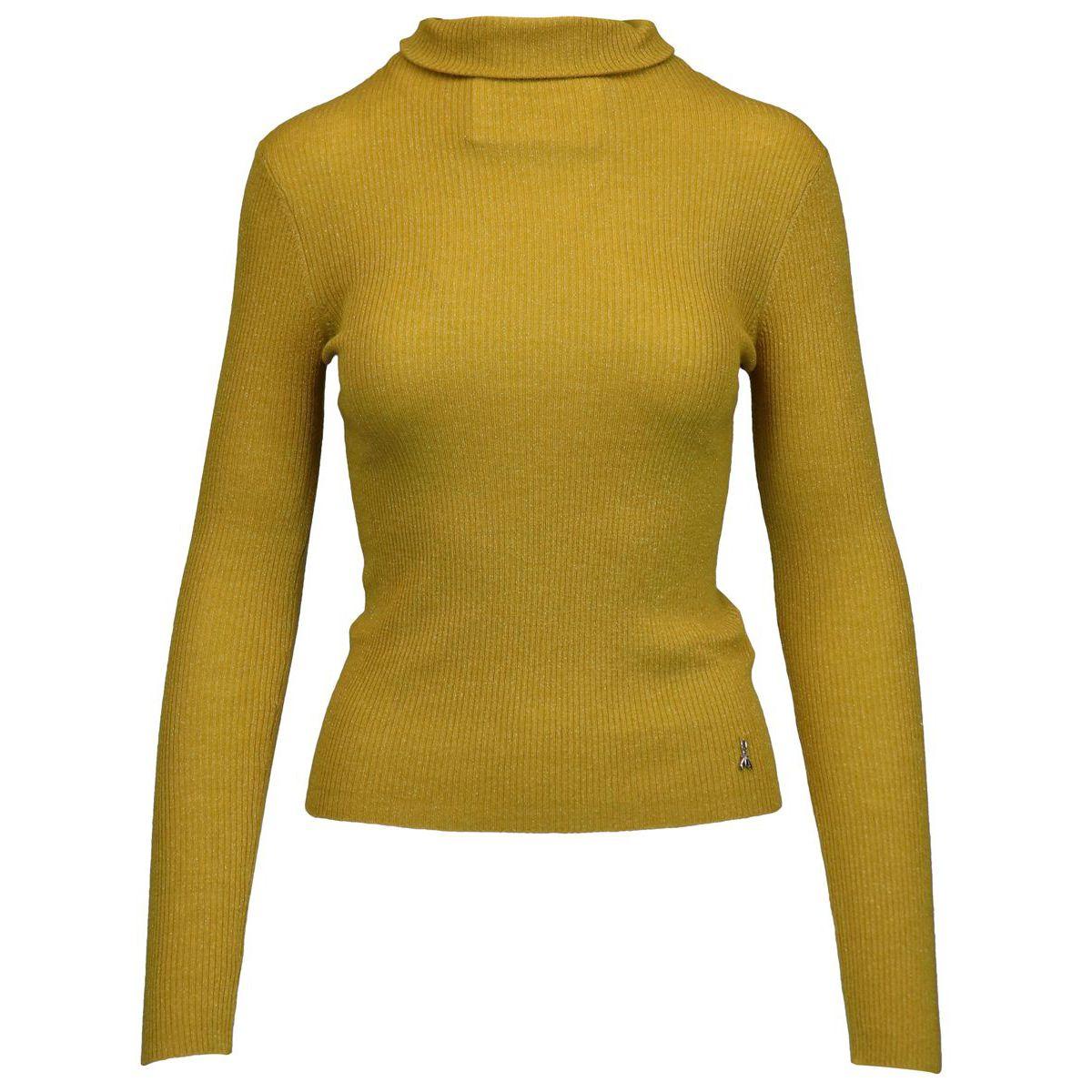 High neck sweater in lurex wool Gold Patrizia Pepe
