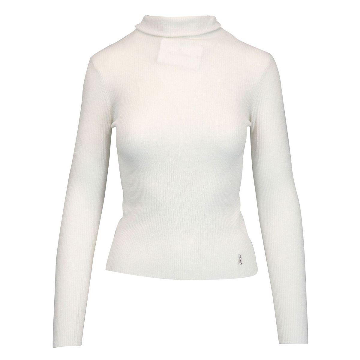 High neck sweater in lurex wool White Patrizia Pepe
