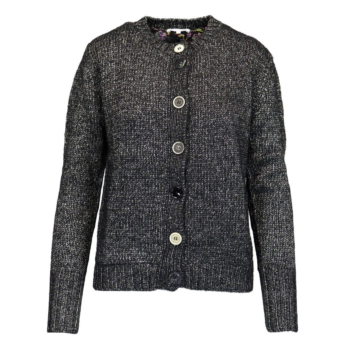 Buttoned shirt in lurex-effect wool blend Black Patrizia Pepe