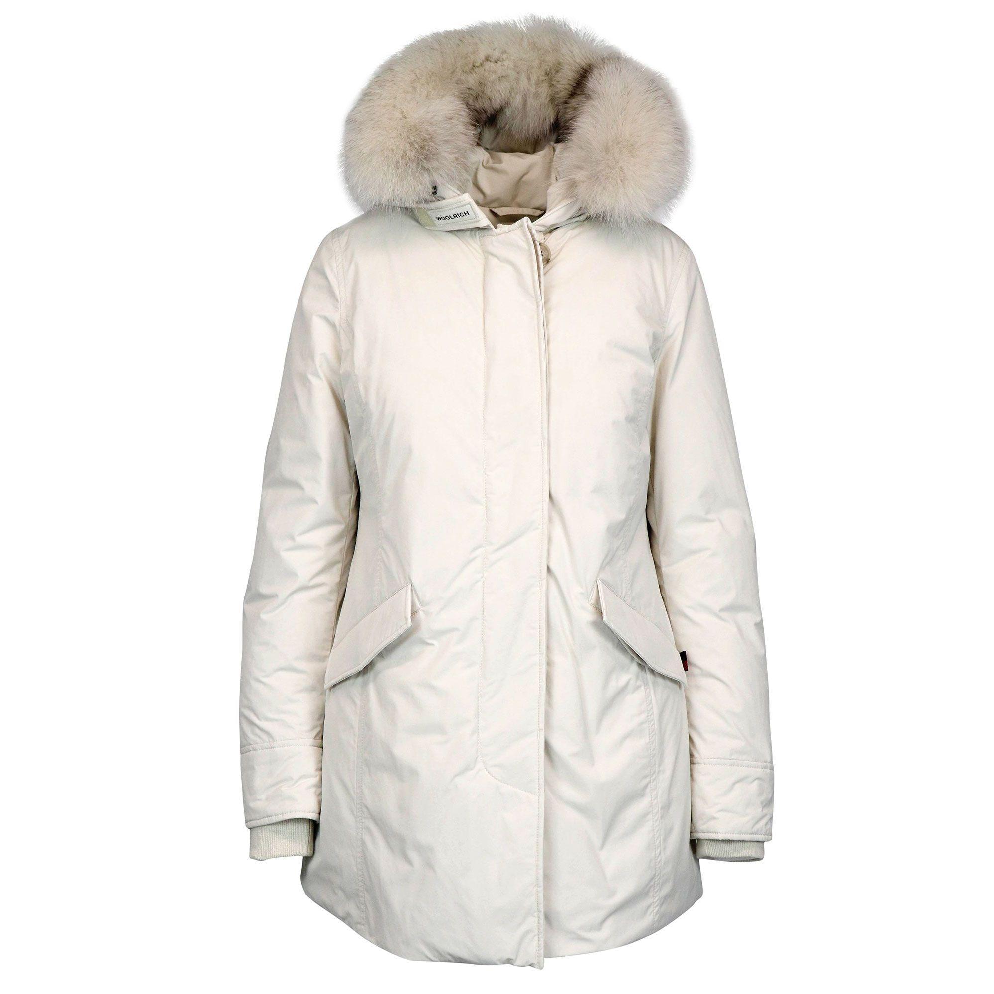 Acquista negozio ufficiale los angeles Parka luxury con pelliccia di volpe Bianco, Woolrich wwcps2834 ...