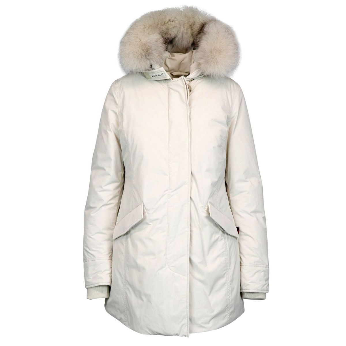 Luxury parka with fox fur White Woolrich