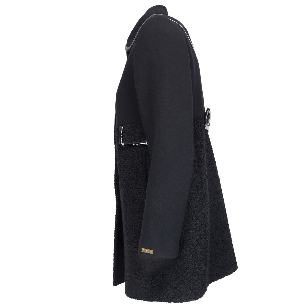 Wool blend VAN coat Black Nenette