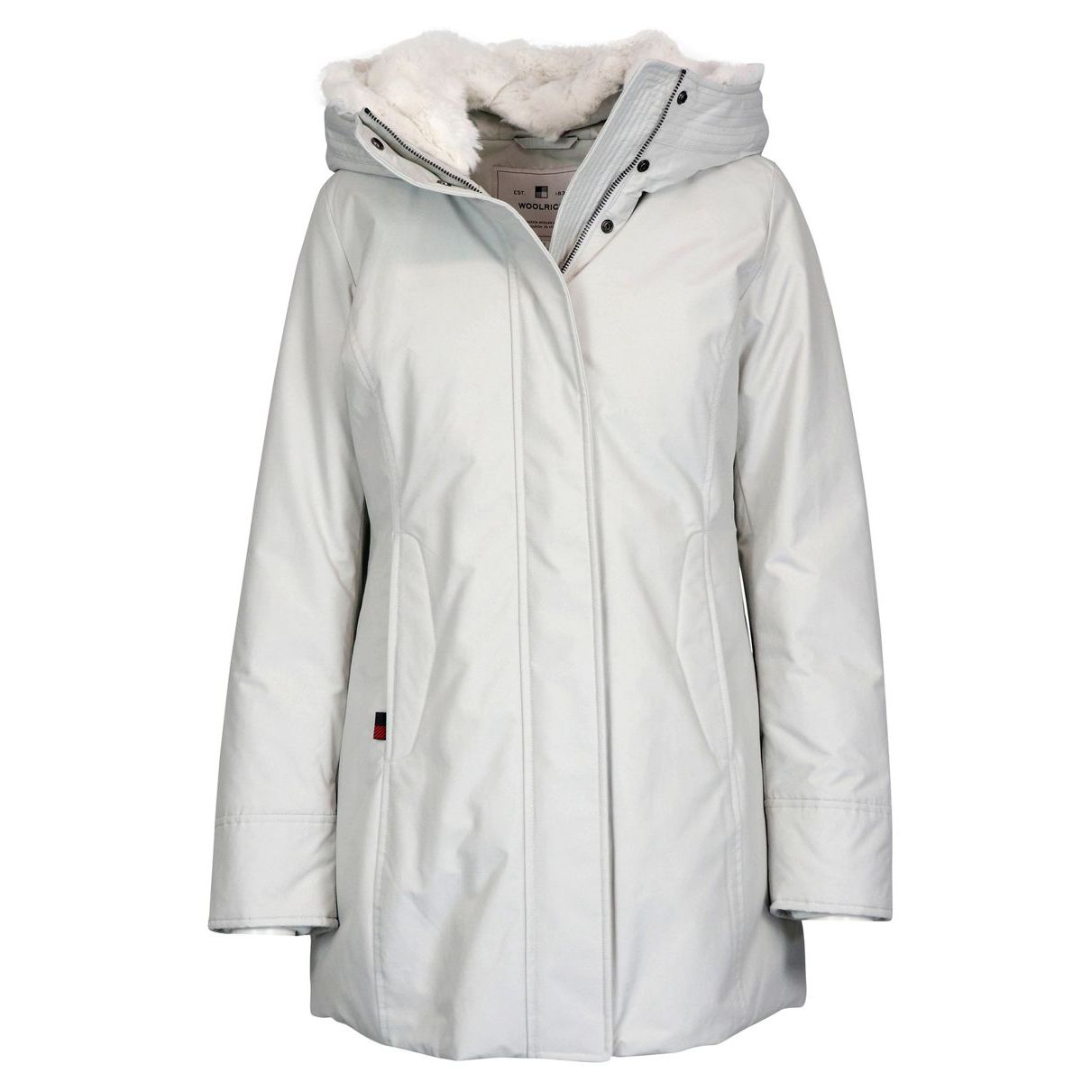 Boulder parka with fur-lined hood White Woolrich