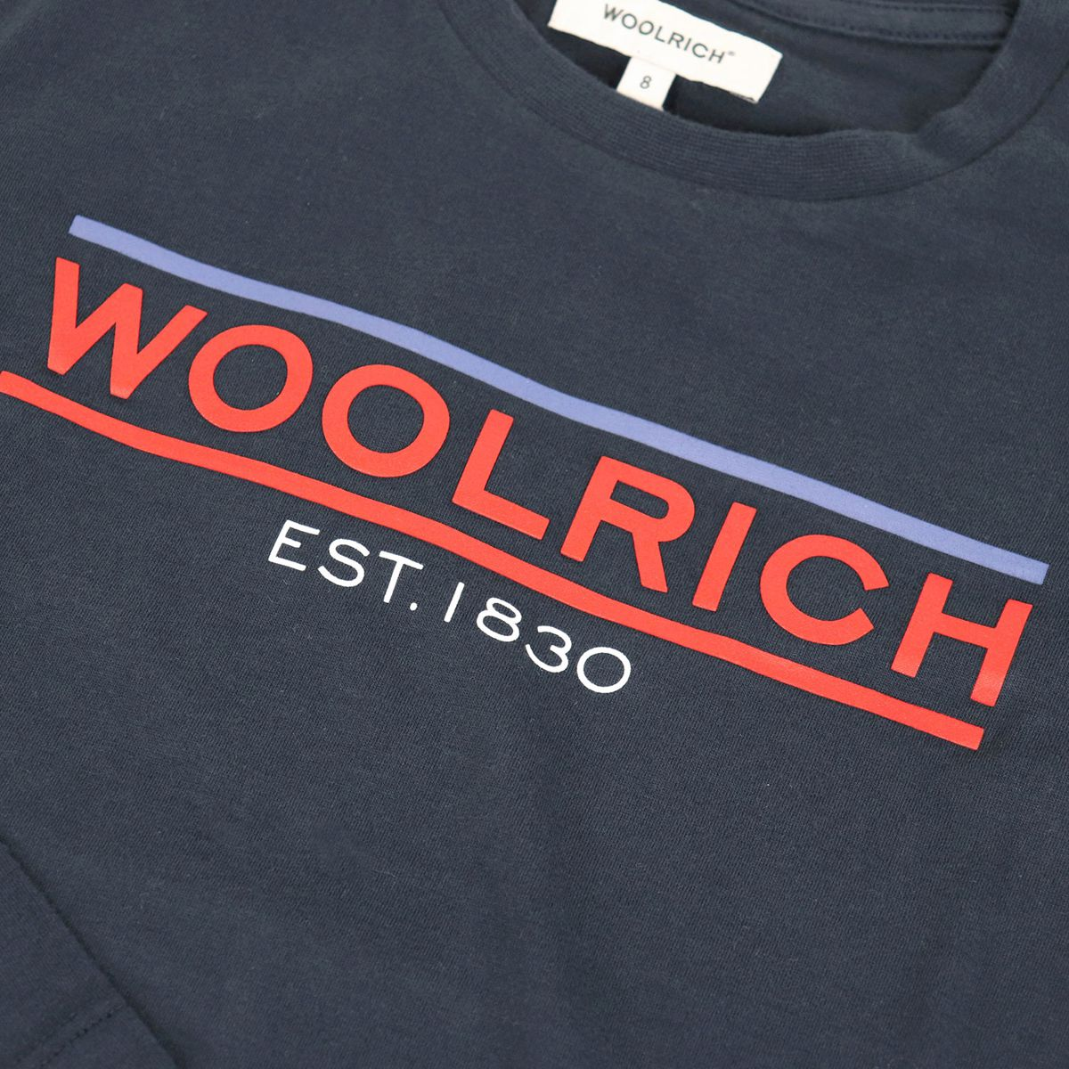 Long sleeve t-shirt with logo Blue Woolrich
