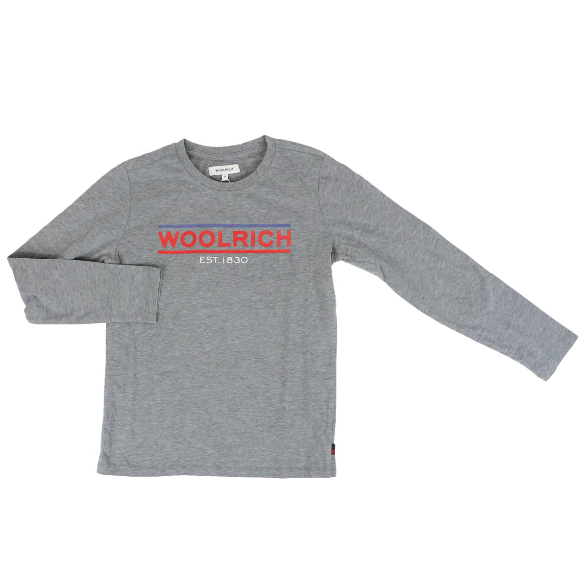 Long sleeve t-shirt with logo Grey Woolrich