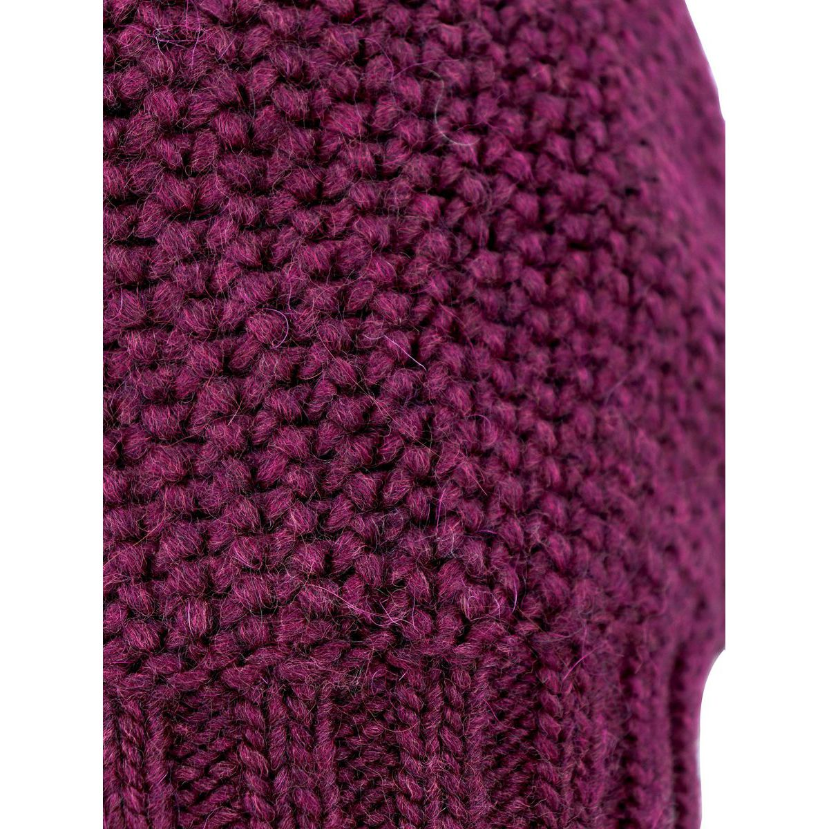 Fitted wool blend beanie with ribbed hem Bordeaux Schonbberg