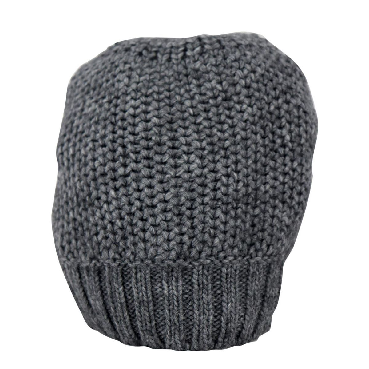 Fitted wool blend beanie with ribbed hem Grey Schonbberg