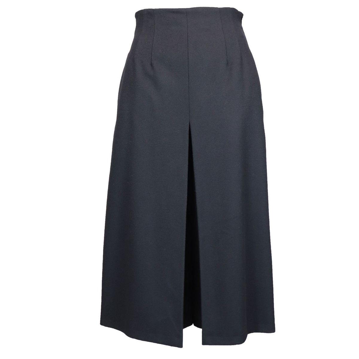 ALETTA wool trouser skirt Black Max Mara