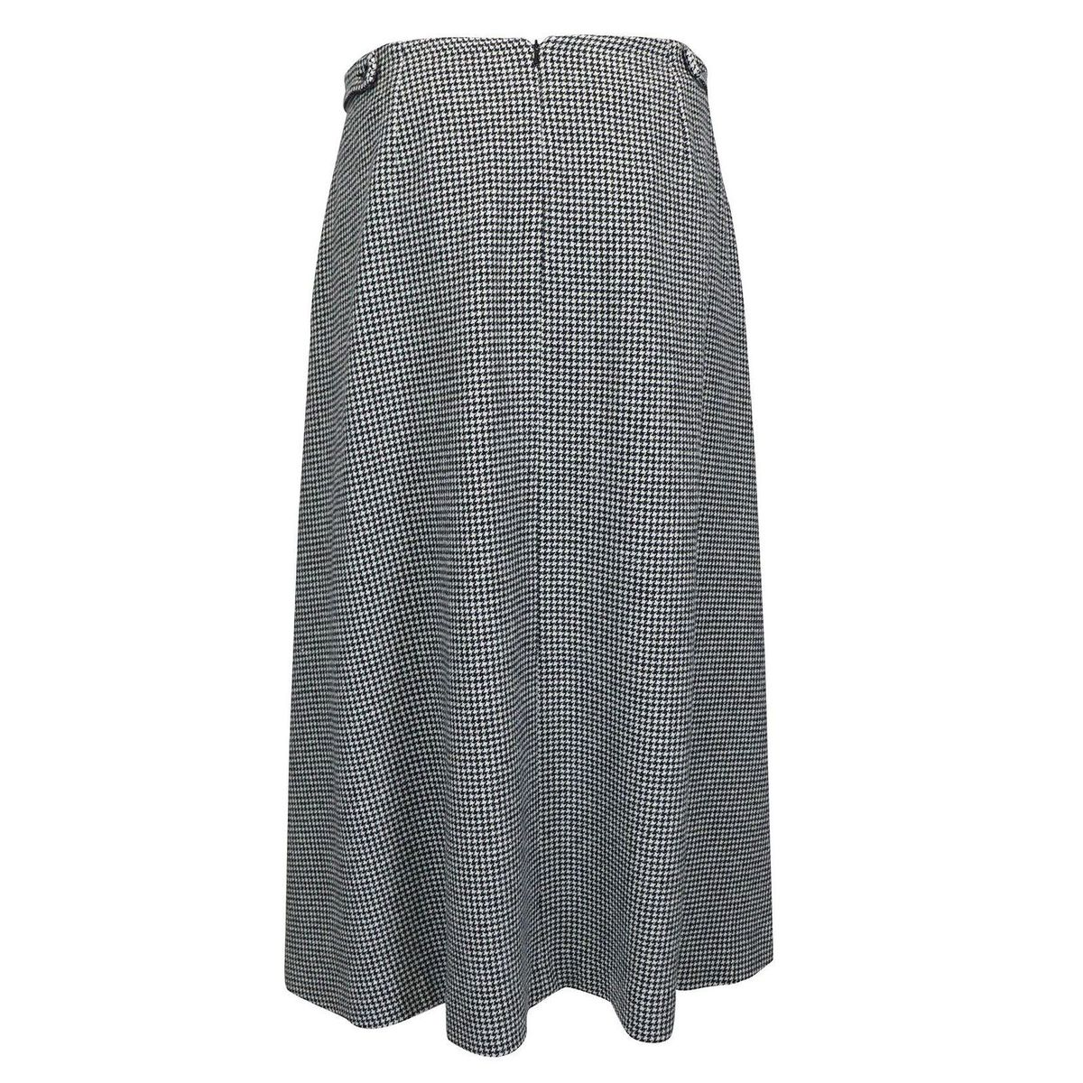 Tania wool blend skirt Black white Max Mara