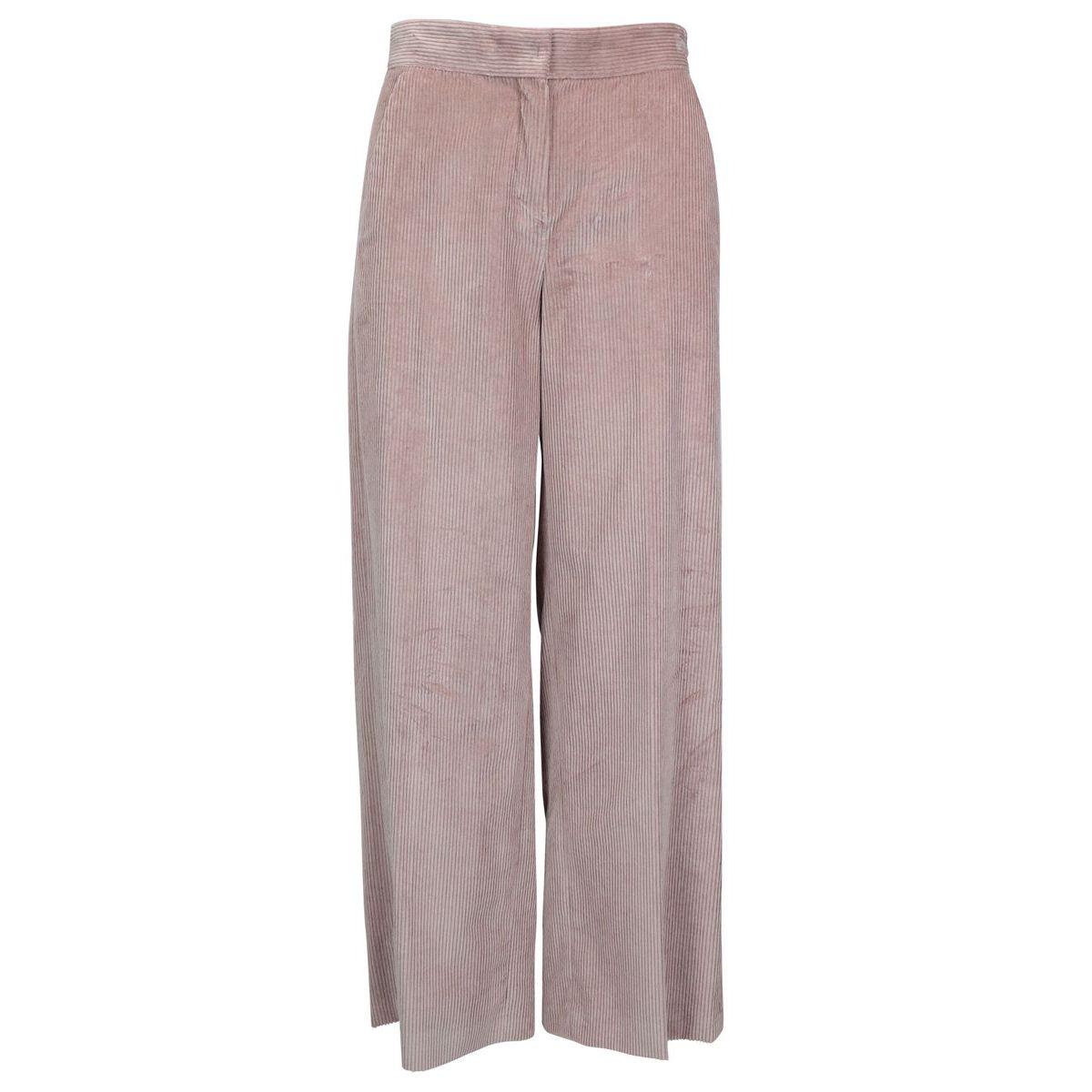 Cropped corduroy trousers STIRIA Powder pink Max Mara