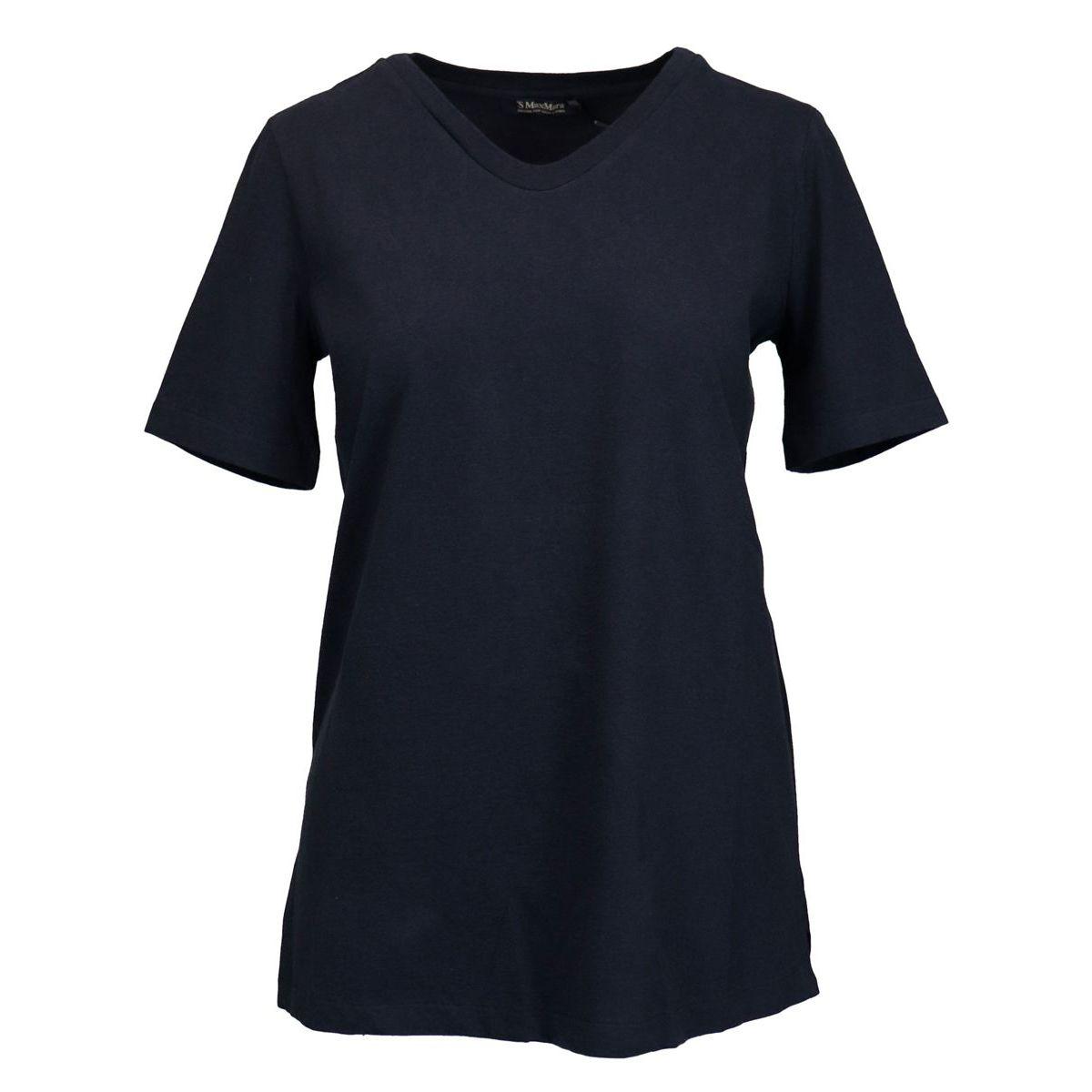DELETTA short sleeve cotton t-shirt Blue Max Mara