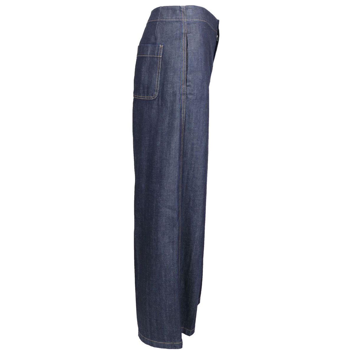 Wide jeans with UTOPIA contrasting stitching Denim blue Max Mara