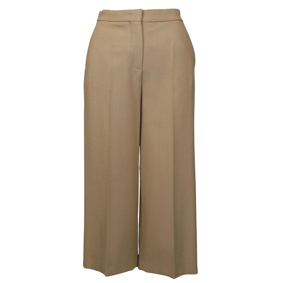 ORFEO stretch virgin wool trousers Camel Max Mara