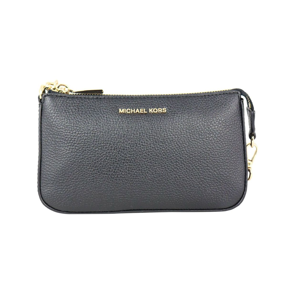 Mini textured leather bag with chain shoulder strap Black Michael Kors