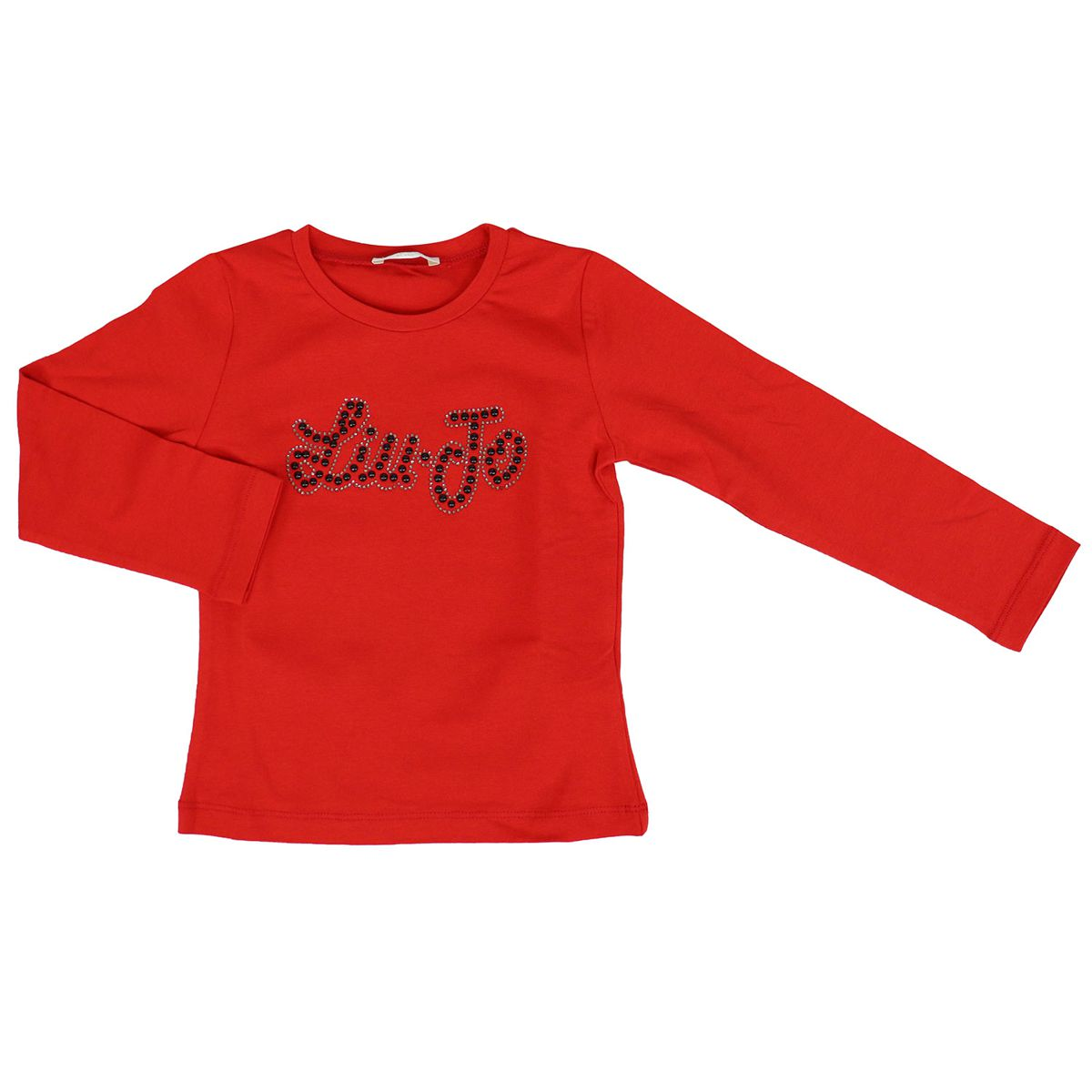 Long sleeve jersey t-shirt with appliqué Red Liu Jo