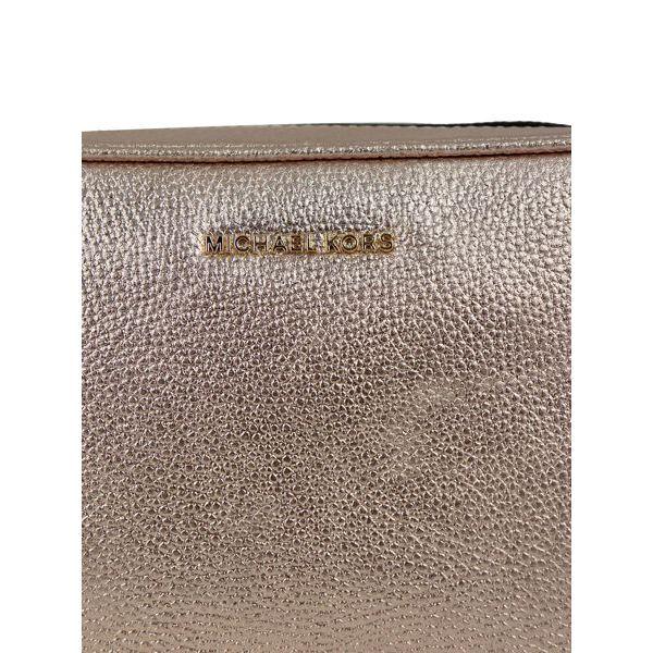 Shoulder bag in GINNY metallic leather Pink Michael Kors