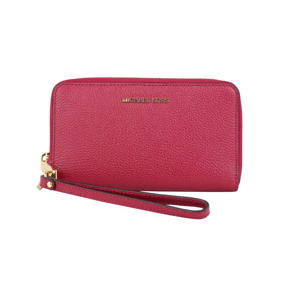 Wallet with bracelet and inside pocket for smartphones Cherry Michael Kors