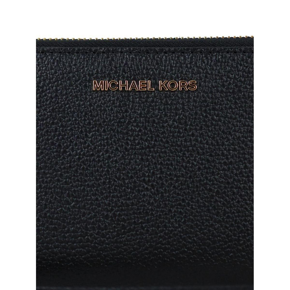 Wallet with bracelet and inside pocket for smartphones Black Michael Kors
