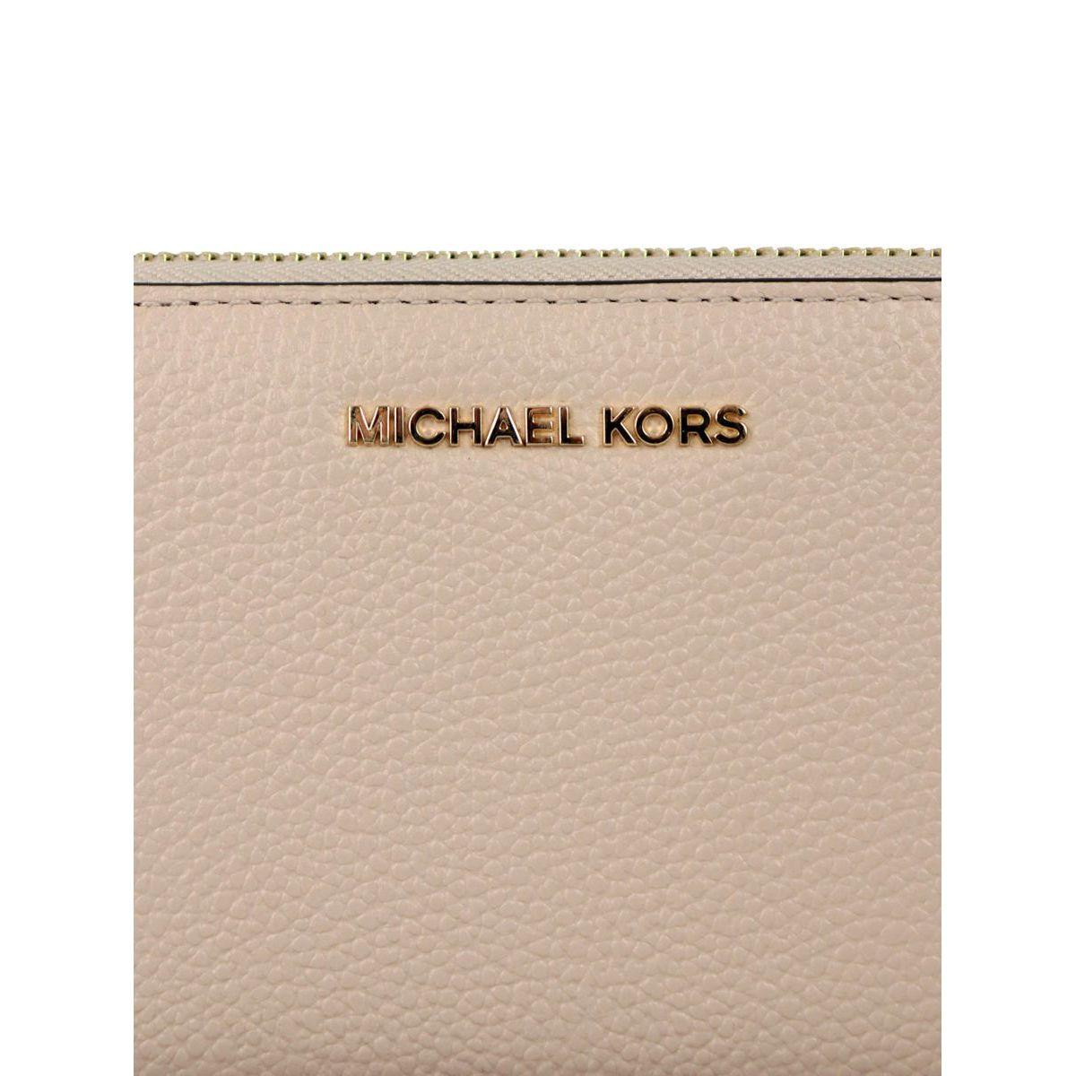 Wallet with bracelet and inside pocket for smartphones Face powder Michael Kors