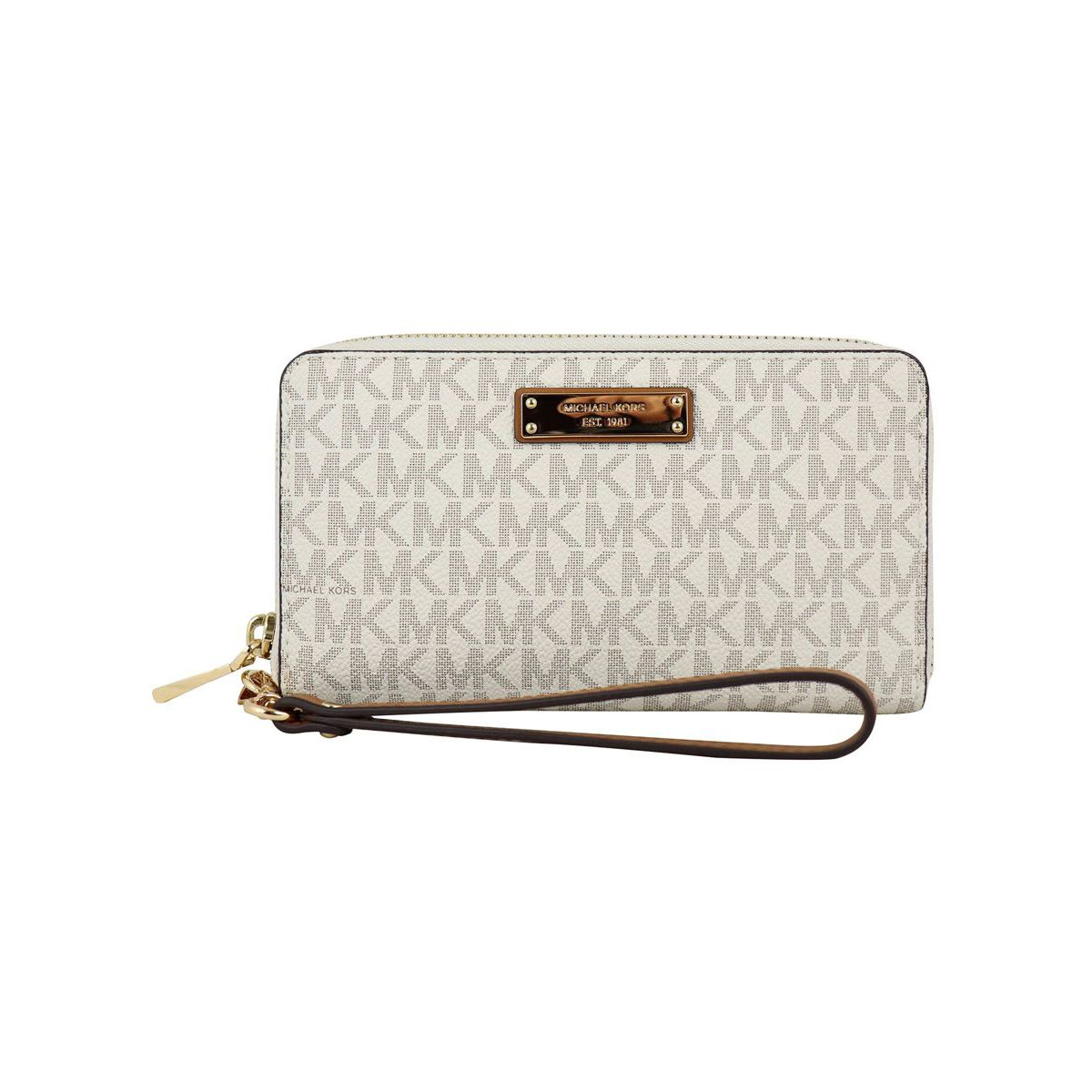 FLAT CASE wallet with detachable bracelet Vanilla Michael Kors