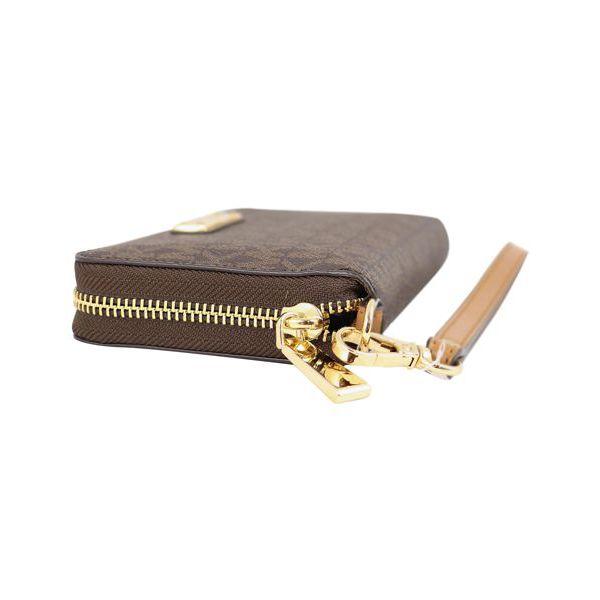 FLAT CASE wallet with detachable bracelet Brown Michael Kors