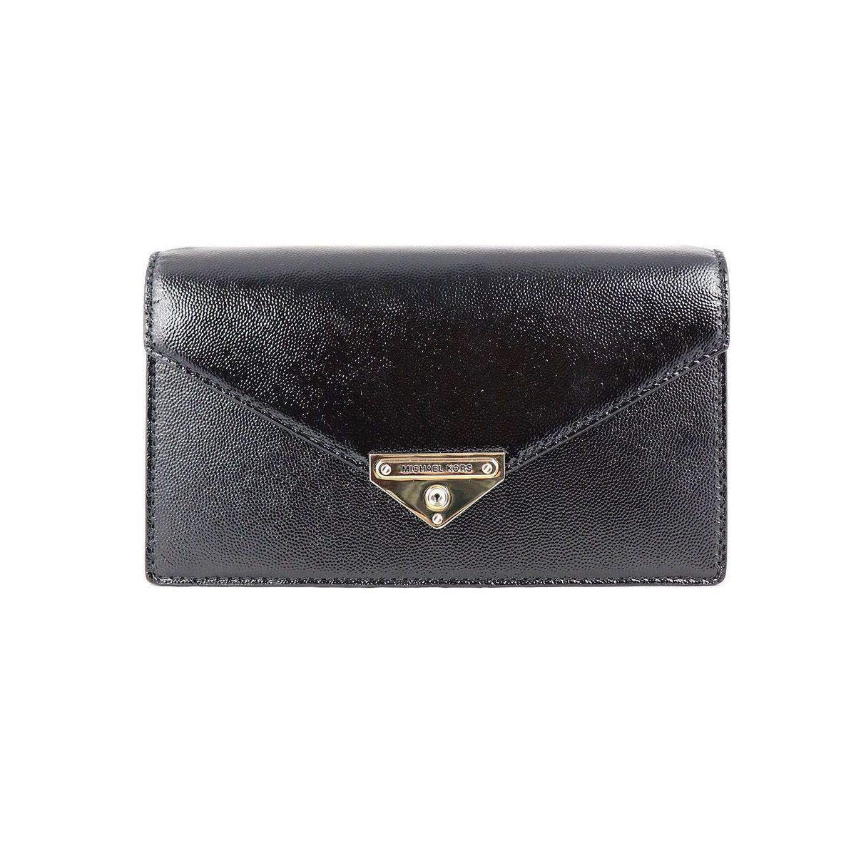 GRACE bag in patent leather with chain Black Michael Kors