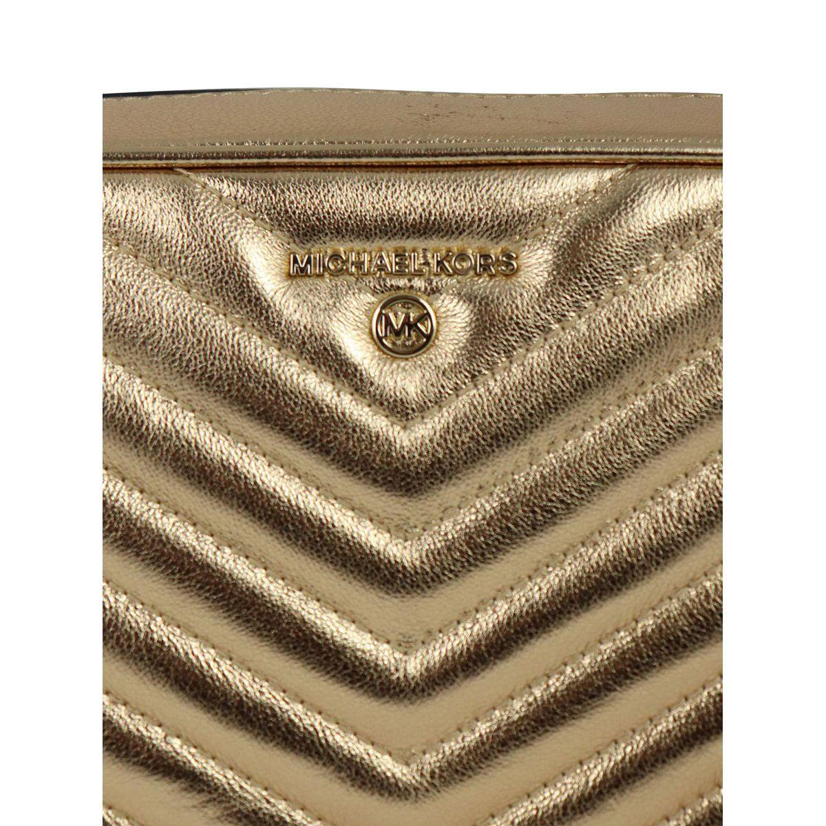MD CAMERA BAG bag in matelassé leather Gold Michael Kors