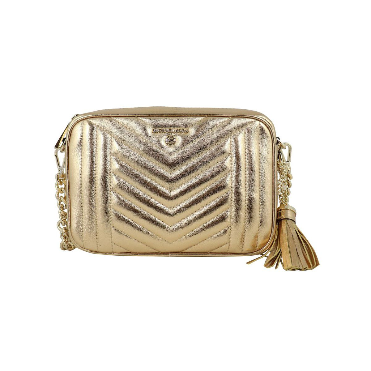 MD CAMERA BAG bag in matelassé leather Gold Michael Kors
