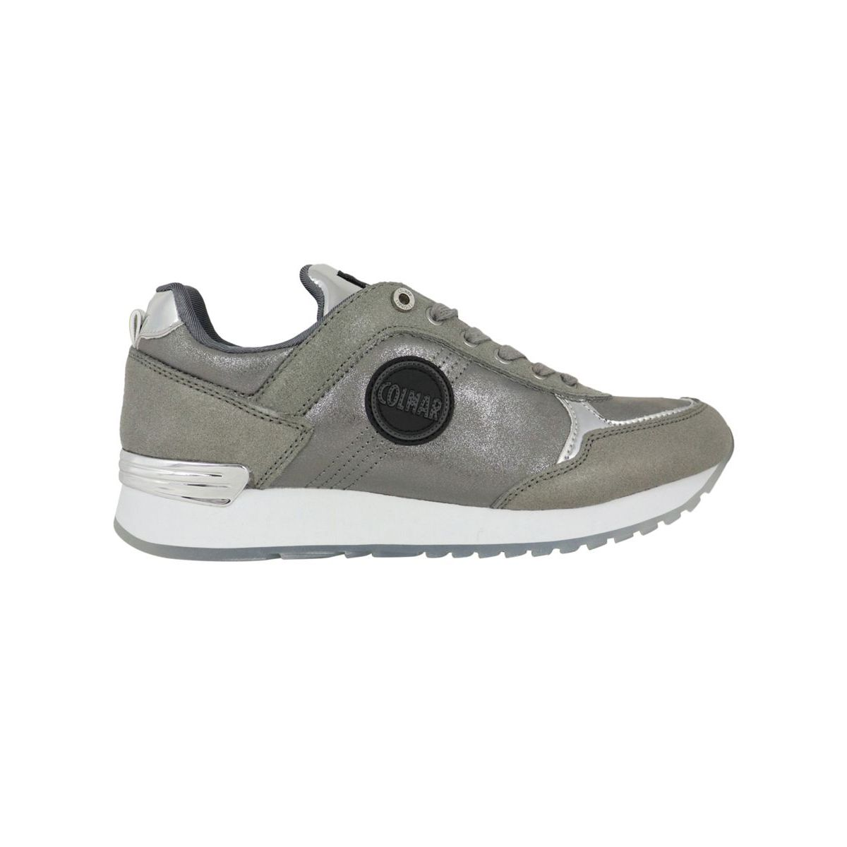 Travis Punk 162 sneakers in suede leather Silver Colmar Shoes