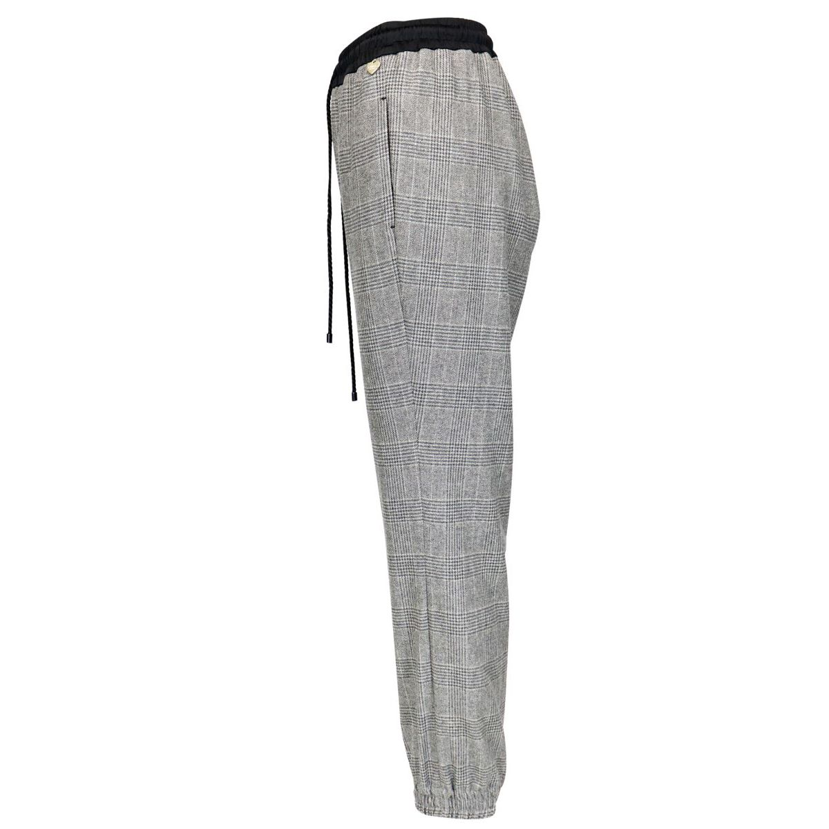 Jogging trousers with elasticated waist and contrasting drawstring Medium gray Twin-Set