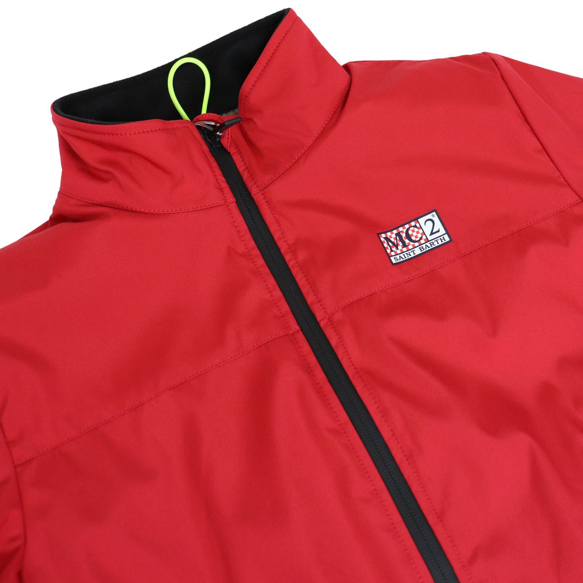 Windproof jacket with faux fur lining Red MC2 Saint Barth