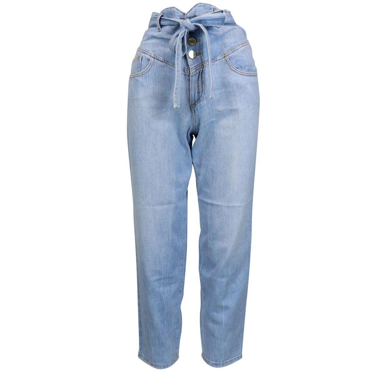"CAROL high waist jeans ""carrot"" model Light denim Pinko"