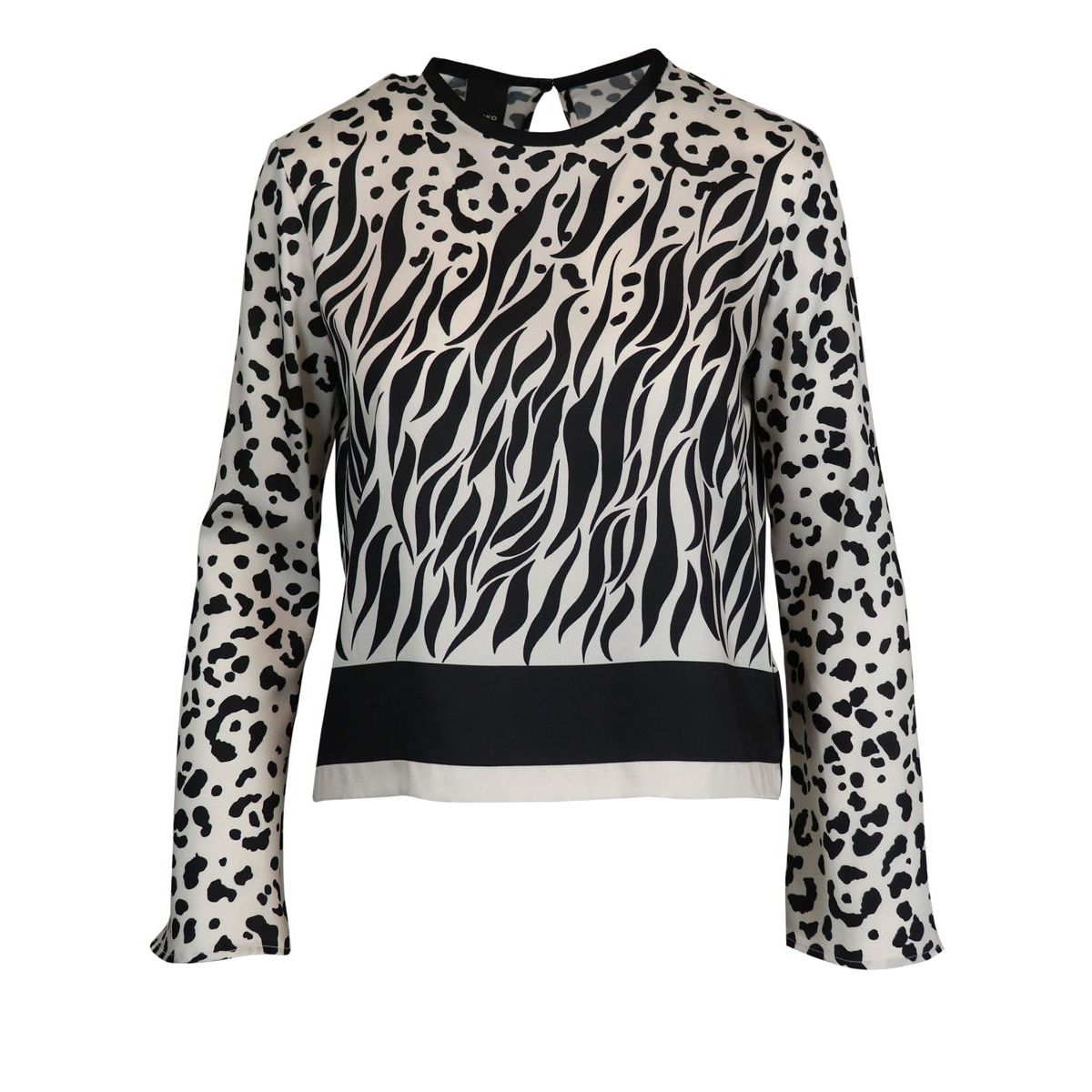 Crepe crepe blouse with spotted print Spotted Pinko