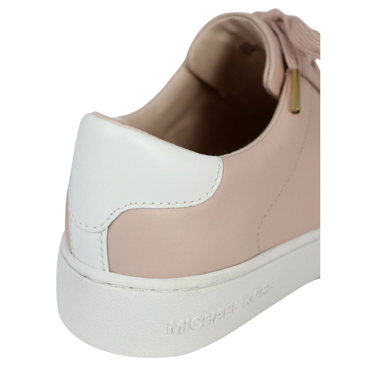 Box-bottom sneakers in pink leather Rose Michael Kors