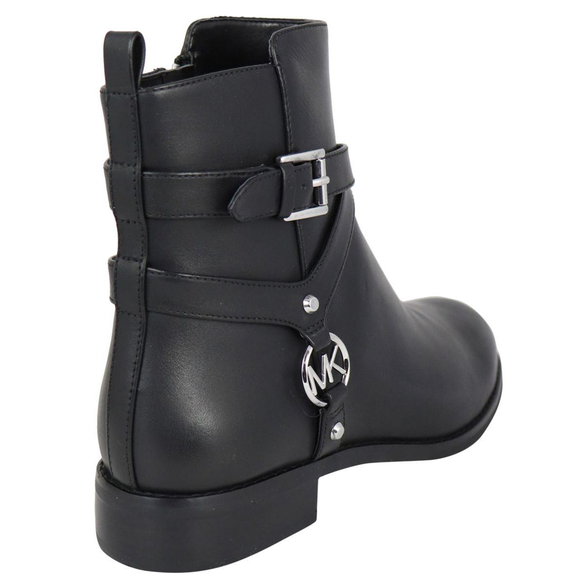 PRESTON low leather ankle boot with steel logo Black Michael Kors