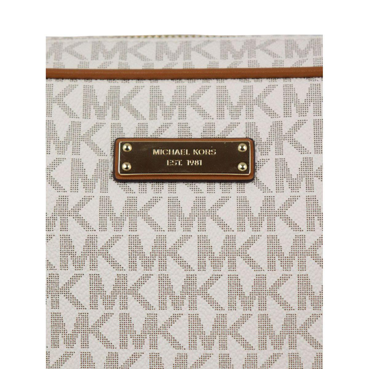 Shoulder bag with all over monogram Vanilla Michael Kors