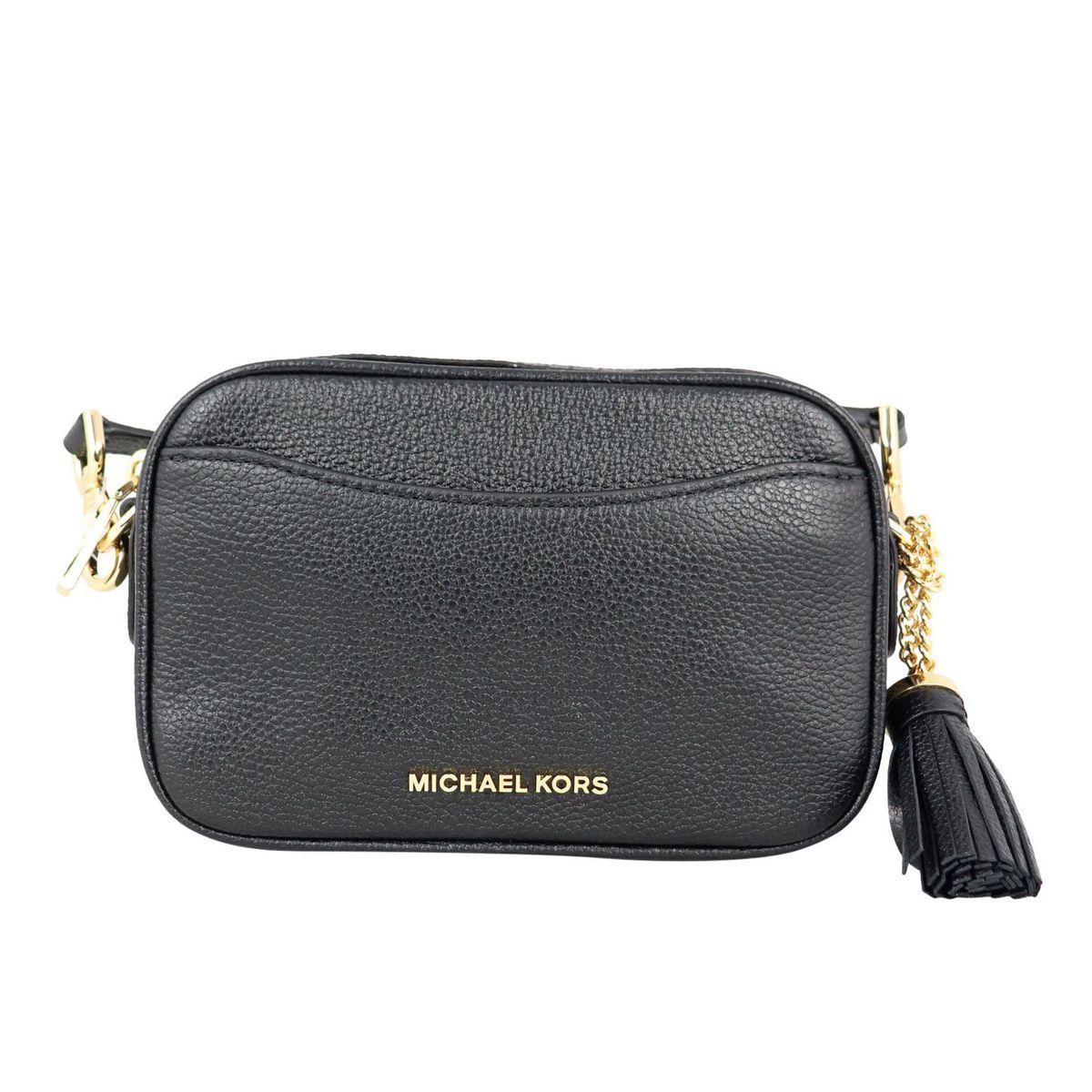 Convertible shoulder bag in textured leather Black Michael Kors