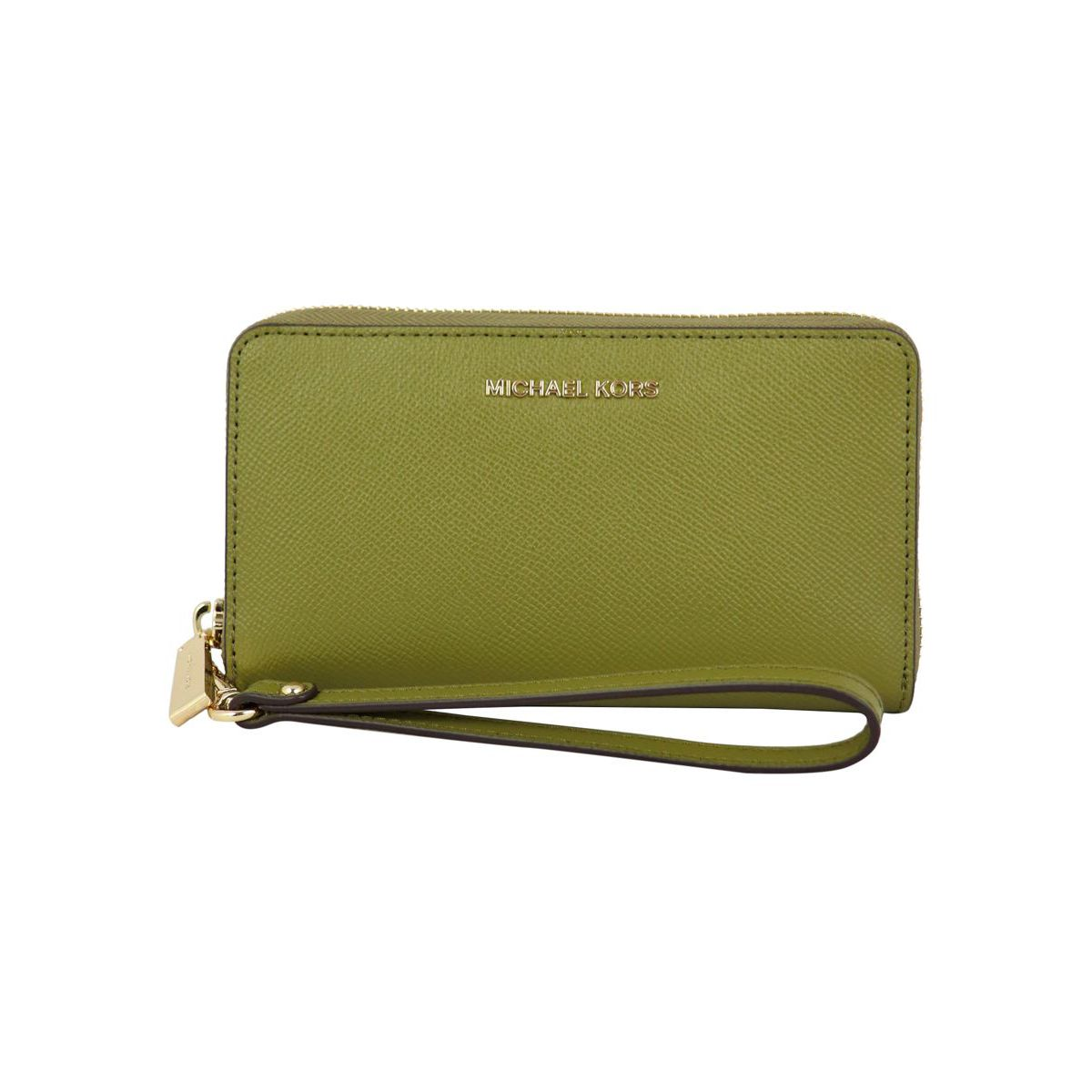 Jet Set wallet with cell phone pocket Pistachio Michael Kors