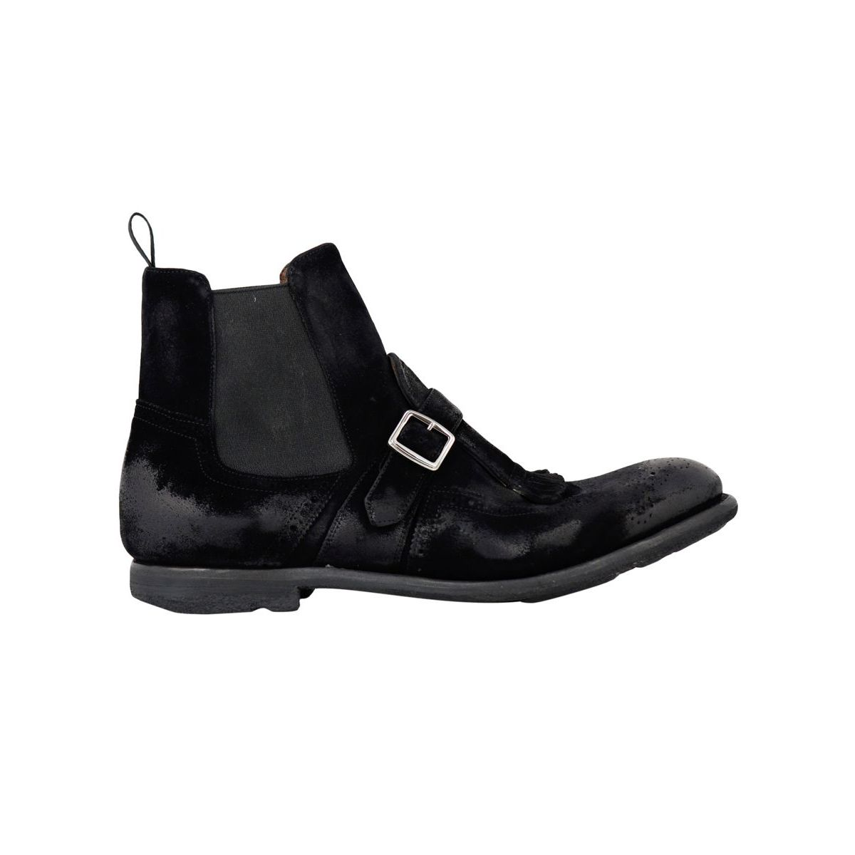 SHANGHAI 6 boot in vintage suede leather Black Church's