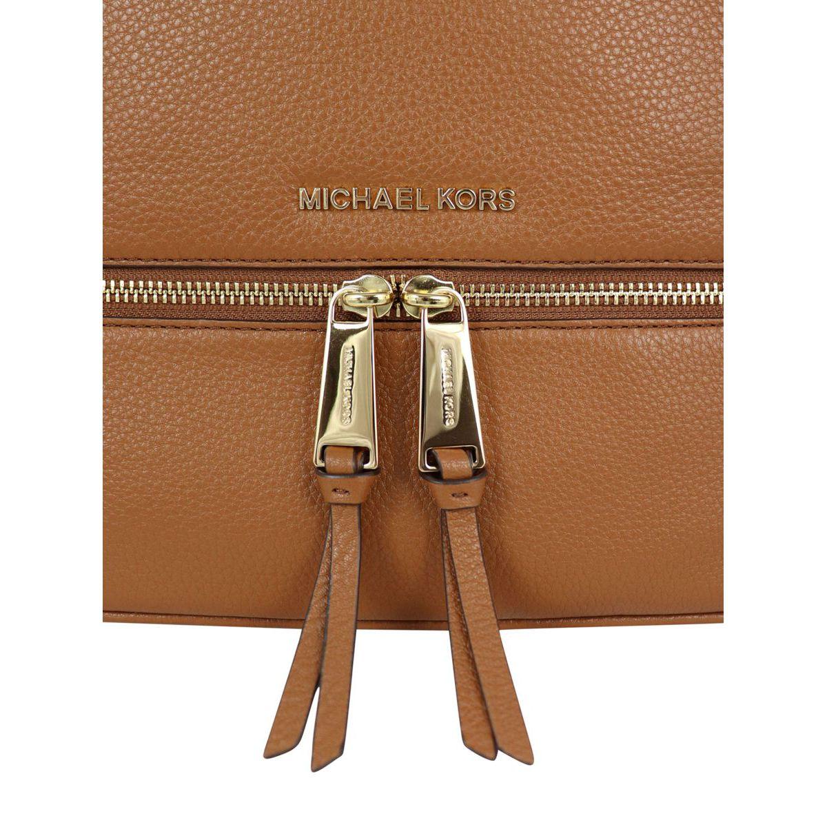 Medium Rhea leather backpack Leather Michael Kors