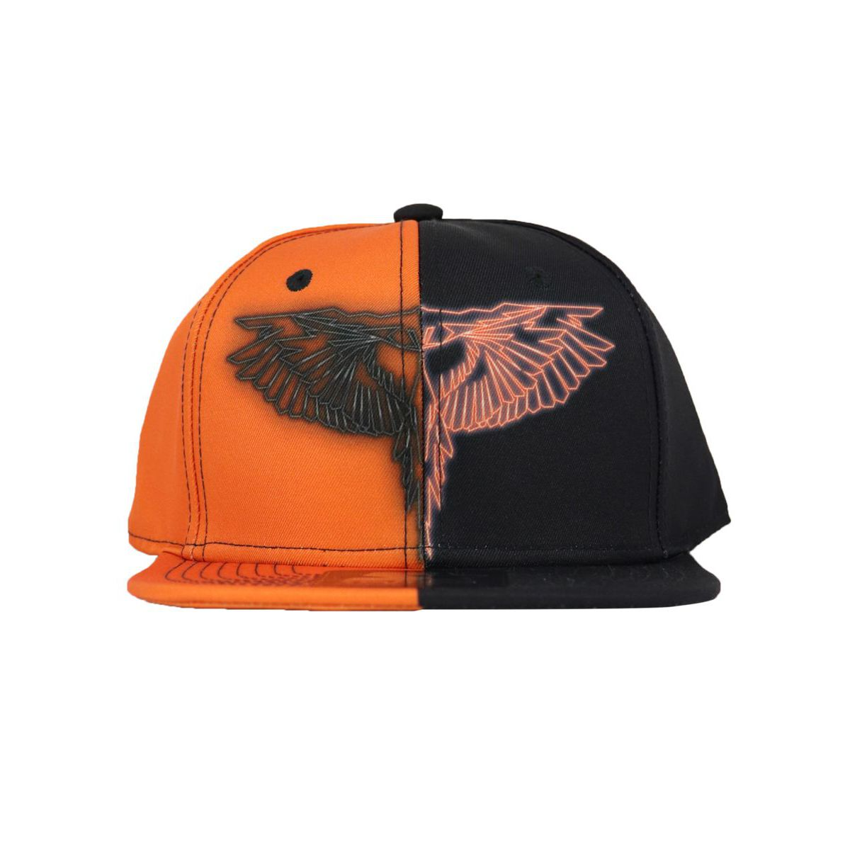 Hat with two-tone visor and print Black MARCELO BURLON