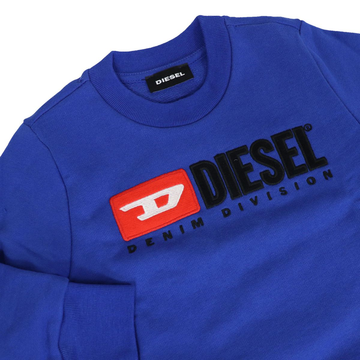 Crewneck cotton sweatshirt with contrasting logo embroidery Bluette Diesel
