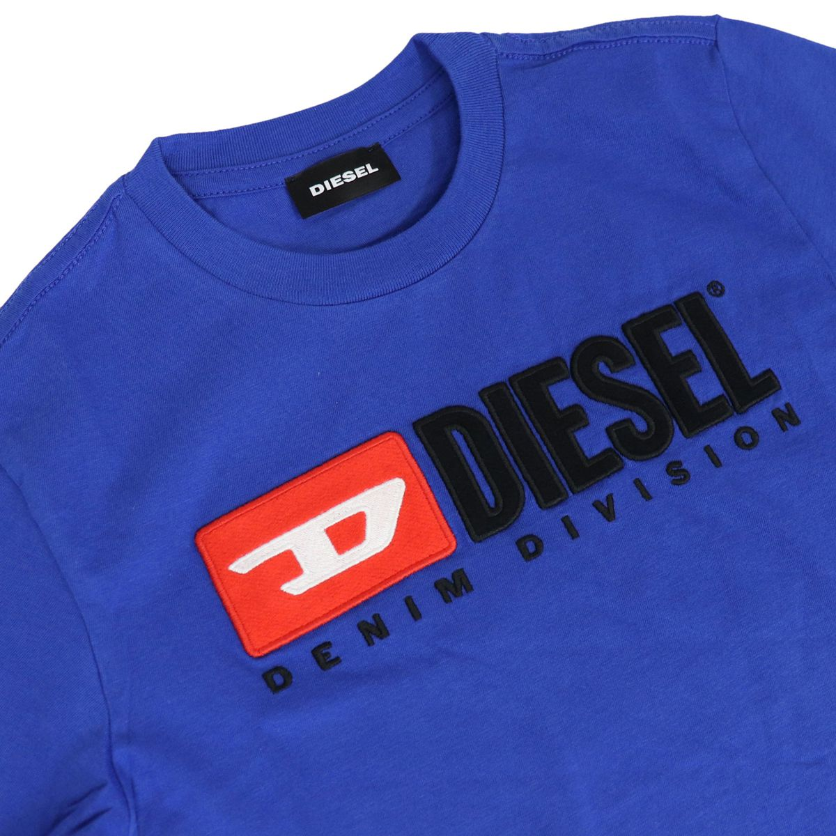 Cotton T-shirt with front logo print Bluette Diesel