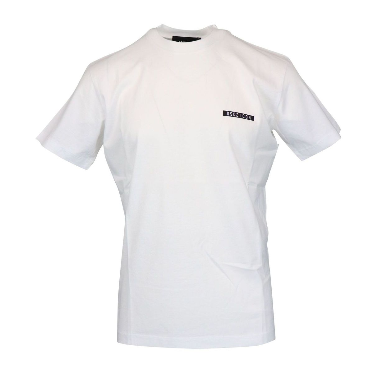 Cotton t-shirt with side logo print White Dsquared2
